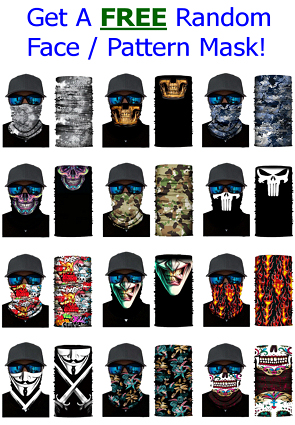 Free Face / Pattern Mask On Orders Of $30 Or More