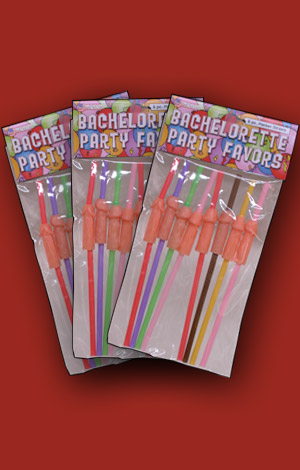 Bachelorette Party Penis Straws 3-Pack
