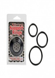 Silicone Support Rings - Black (114801.0)