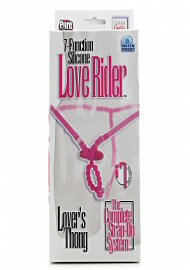 7 Func Silicone Love Rider Thong - Pink (118560.0)