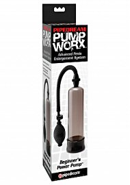 Pump Worx Beginners Power Pump With Cockring Smoke (120067.23)