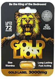 Gold Lion Erection Pill - Gold Label 3000mg Capsule (140910.858)
