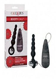 Booty Call Booty Glider Vibrating Butt Plug - Black (190068.4)