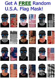 Free U.S.A. Flag Mask On Orders Of $30 Or More (40010.499)