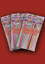 Bachelorette Party Penis Straws 3-Pack (44546.10)